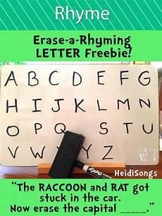 beginning worksheets 18792 erase a rhyming letter freebie phonics kindergarten rhyming activities rhyming words