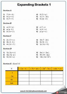 fraction worksheets gcse higher 3959 expanding single brackets maths worksheet and answers gcse higher grade 5 year 9 worksheets
