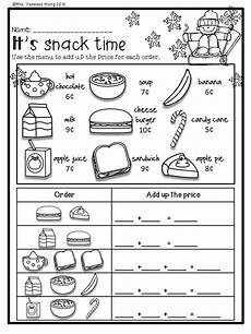 winter worksheets for 1st grade 20148 winter math and literacy no prep printables grade money math money math worksheets