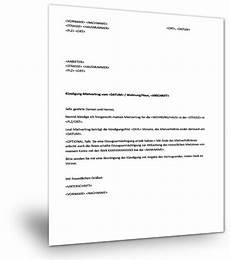 wohnungskündigung per mail musterbrief wohnungsk 252 ndigung musterix