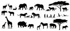 afrika tiere b 228 ume savanne silhouetten set silhouette
