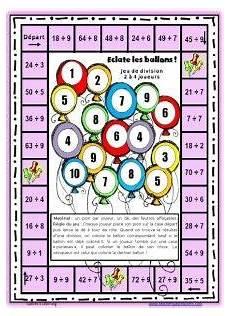 calcul g 233 noise et des jeux pour r 233 viser les tables de multiplication maths