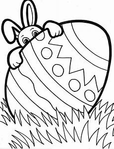 Ausmalbilder Ostern A4 A Bunny Peeking From Easter Egg Coloring Page Netart