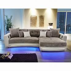 led sofa wohnlandschaft laredo sofa ecksofa in schwarz grau greige