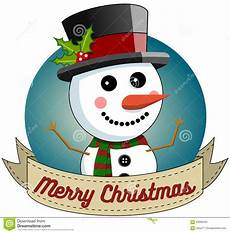 snowman merry christmas round frame stock vector illustration of frame announcement 63566294
