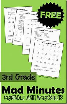 free 3rd grade mad minutes math worksheets homeschool