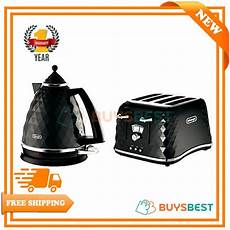 delonghi electric kettle and toaster set brillante 4 slice