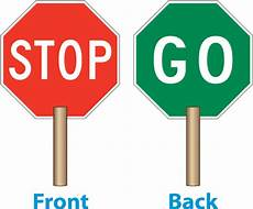 12 Quot Handle Stop Go Paddle By Safetysign Y1263