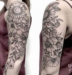 60 black gray flower tattoos by anna bravo list inspire