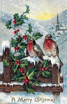 free vintage christmas cards in the domain free vintage illustrations