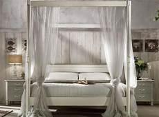 letto baldacchino legno bianco bellissimo letto matrimoniale a baldacchino in legno