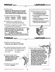 grammar exercises for grade 7 19266 daily language practice grade 7 use it don t lose it ip6122 world book store