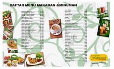 contoh daftar menu makanan dan minuman beserta harganya