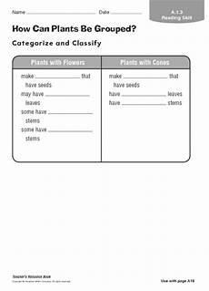 printables plant classification worksheet messygracebook thousands of printable activities