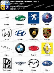 Logo Quiz Cars Answers Level 3 Solver
