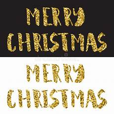 merry christmas lettering design gold glitter text white and black background stock