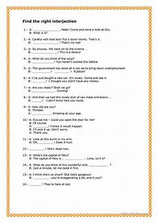 free worksheets on adjectives 18672 interjections worksheet free esl printable worksheets made by teachers