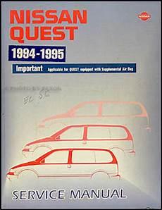 free car manuals to download 1995 nissan quest windshield wipe control 1994 1995 nissan quest van repair shop manual original