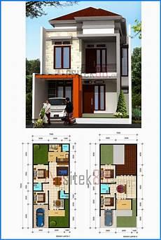 Denah Rumah Minimalis 2 Lantai 8x12 Denah Rumah Desain