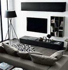 salon meuble noir un salon en gris et blanc c est chic voil 224 82 photos qui