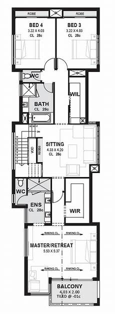 Grundriss Haus 8m Breit - edge luxury 10m wide 2 storey home perth novus homes