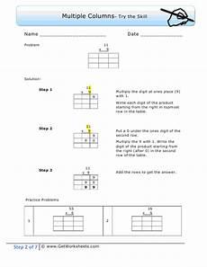 multiplication using the column method