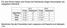220 bungsaufgaben statistik indexzahlen preisindex nach