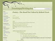 poetry the road not taken by robert frost lesson plan for 5th 9th grade lesson planet