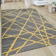 teppich gelb grau kurzflor teppich linien gelb grau in 2020 moderne