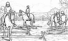 ausmalbilder pferde springreiten ausmalbilder