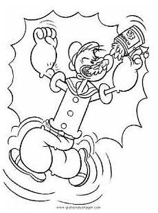 Gratis Malvorlagen Popeye Popeye 21 Gratis Malvorlage In Comic Trickfilmfiguren