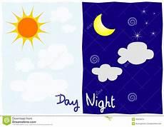 dibujos del del dia y la noche d 237 a y noche imagenes de archivo 30023674