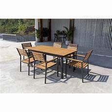 Ensemble Mobilier De Jardin 6 Places 1 Table Avec