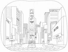 times square coloring page free printable coloring pages