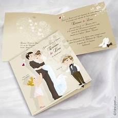 faire part de mariage original pas cher avec photo