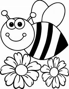 bee flower coloring page wecoloringpage