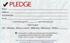 pledge cards for churches pledge card templates card