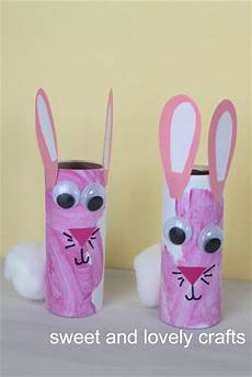 Sweet And Lovely Crafts Toilet Paper Roll Bunnies