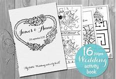 wedding activity book printable personalized kids booklet etsy