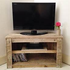 handmade rustic corner table tv stand with shelf reclaimed