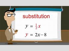 how to solve by substitution steps