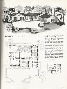 vintage ranch house plans vintage house plans mid century homes vintage homes
