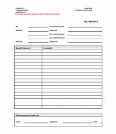 lieferschein vorlage doc delivery note template 20 free word pdf format