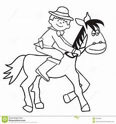 and cowboy coloring stock vector illustration of