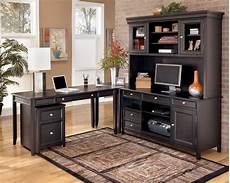 black home office furniture carlyle contemporary black wood office furniture set the
