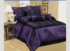Purple Zebra, Cheetah and Leopard Print Comforter