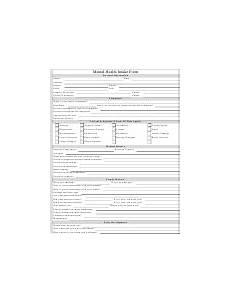 mental health assessment form printable pdf download