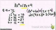 algebra how to factor trinomials when a is bigger than 1 youtube