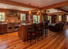 open floor plan farmhouse upscale living in small homes