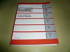 car maintenance manuals 1991 pontiac lemans spare parts catalogs 1991 pontiac le mans service manual s 9110 t ebay
